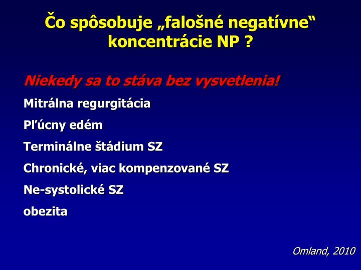 o spsobuje falon negatvne koncentrcie NP ?