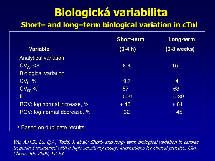 Biologick variabilita