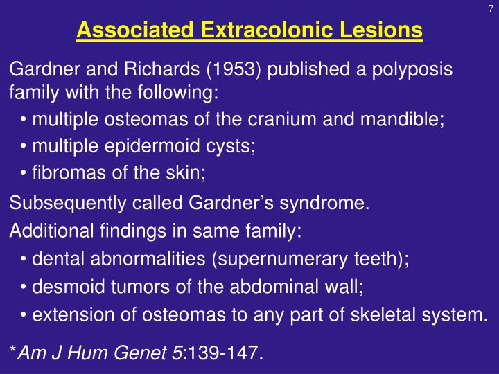 Associated Extracolonic Lesions