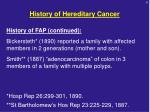history of hereditary cancer1