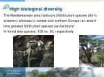 high biological diversity
