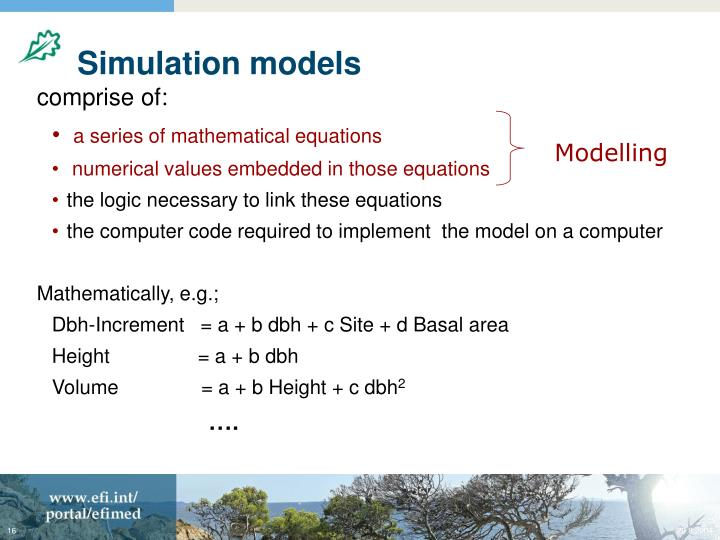 Simulation models