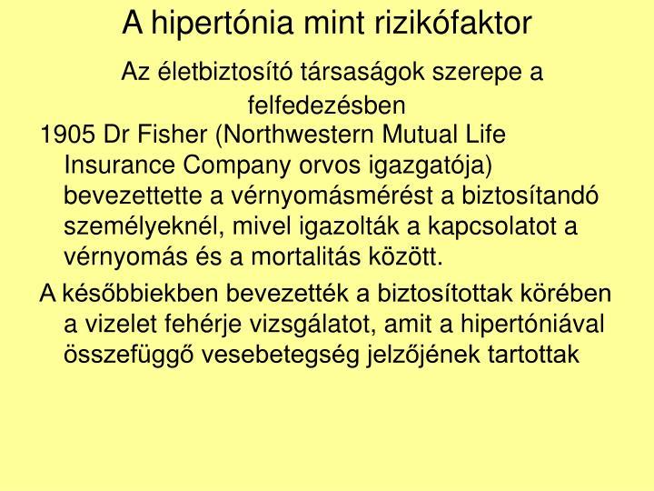 A hipertnia mint rizikfaktor