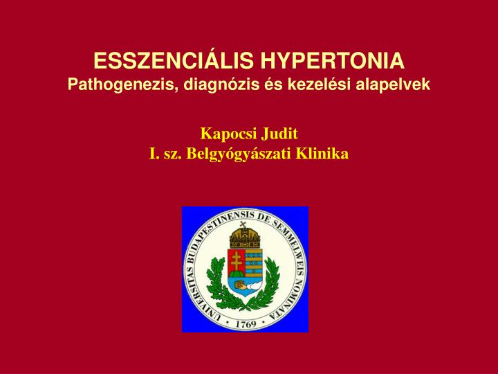 ESSZENCILIS HYPERTONIA