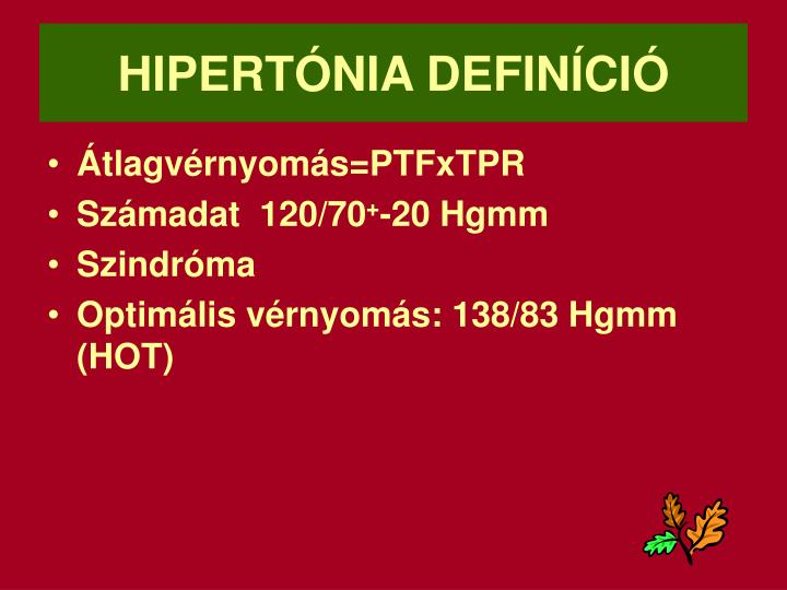 HIPERTÓNIA DEFINÍCIÓ
