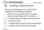 creating a clock function