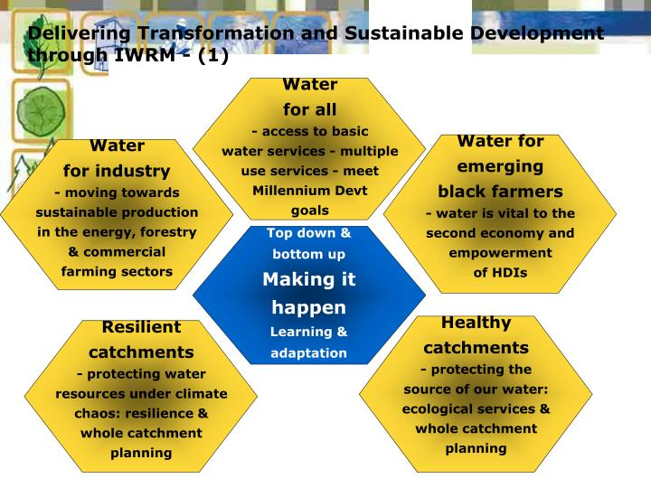 Delivering Transformation and Sustainable Development through IWRM - (1)