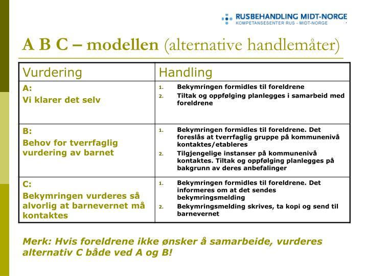 A B C – modellen