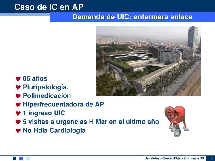 Caso de IC en AP