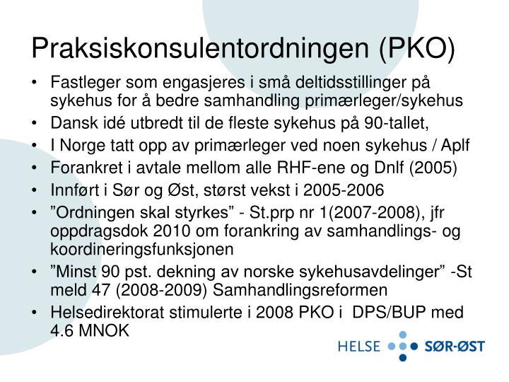 Praksiskonsulentordningen (PKO)
