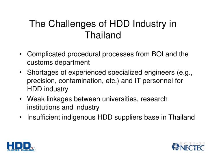 The Challenges of HDD Industry in Thailand