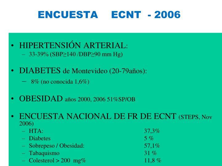 ENCUESTA    ECNT  - 2006