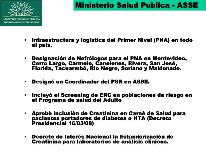 Ministerio Salud Publica - ASSE