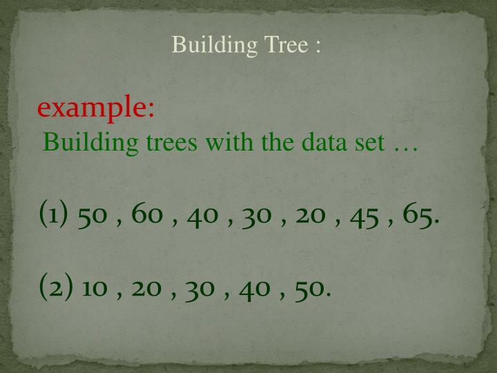 Building Tree :