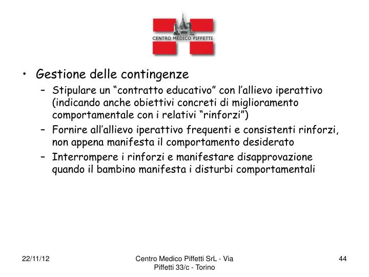 Gestione delle contingenze