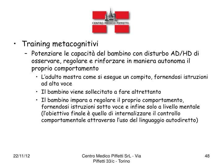 Training metacognitivi