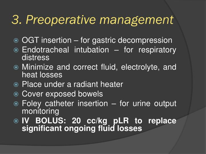 3. Preoperative management