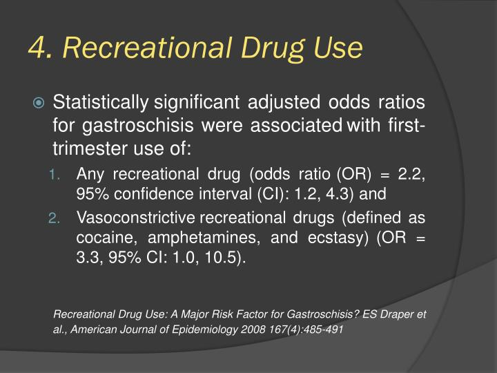 4. Recreational Drug Use