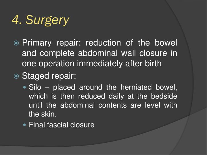 4. Surgery