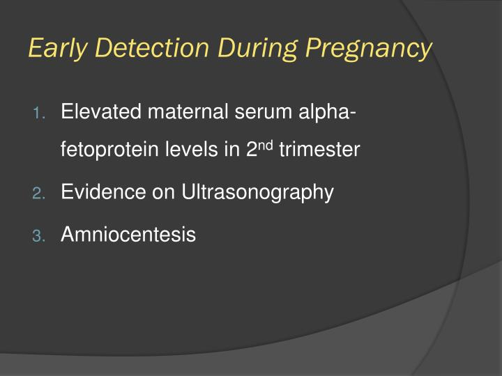 Early Detection During Pregnancy