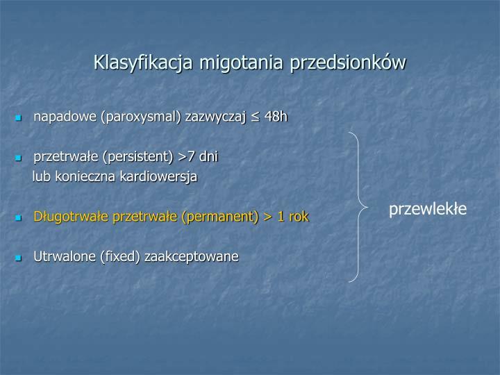 Klasyfikacja migotania przedsionków
