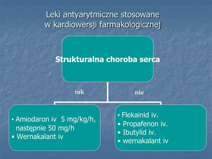 Leki antyarytmiczne stosowane