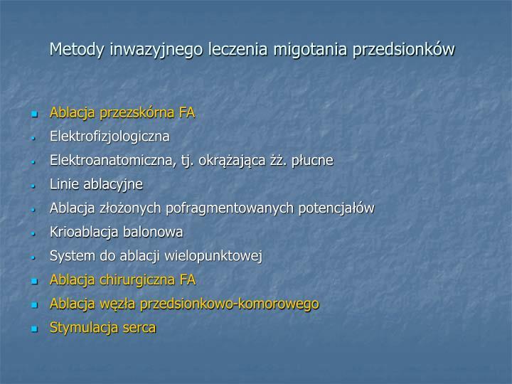 Metody inwazyjnego leczenia migotania przedsionków