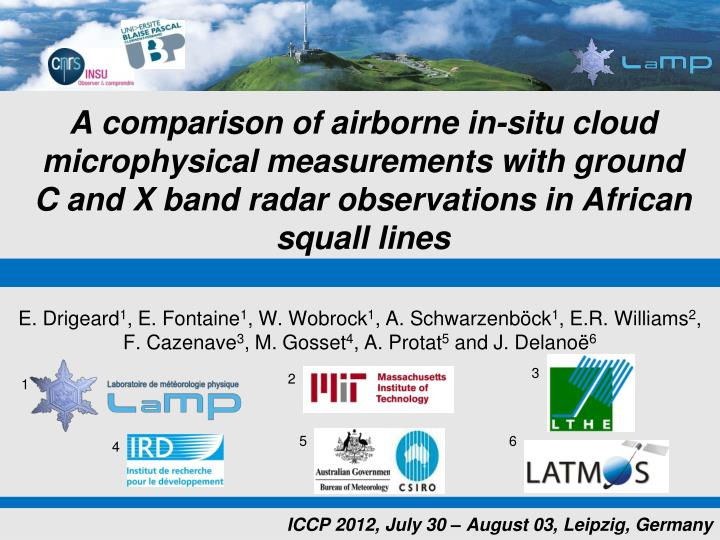 A comparison of airborne in-situ cloud microphysical measurements with ground   C and X band radar observations in African squall lines