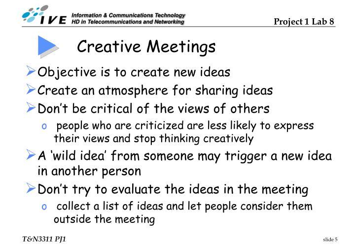 Creative Meetings