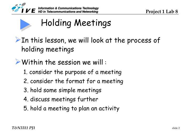 Holding Meetings