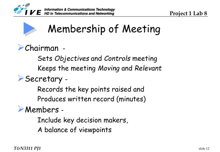 Membership of Meeting