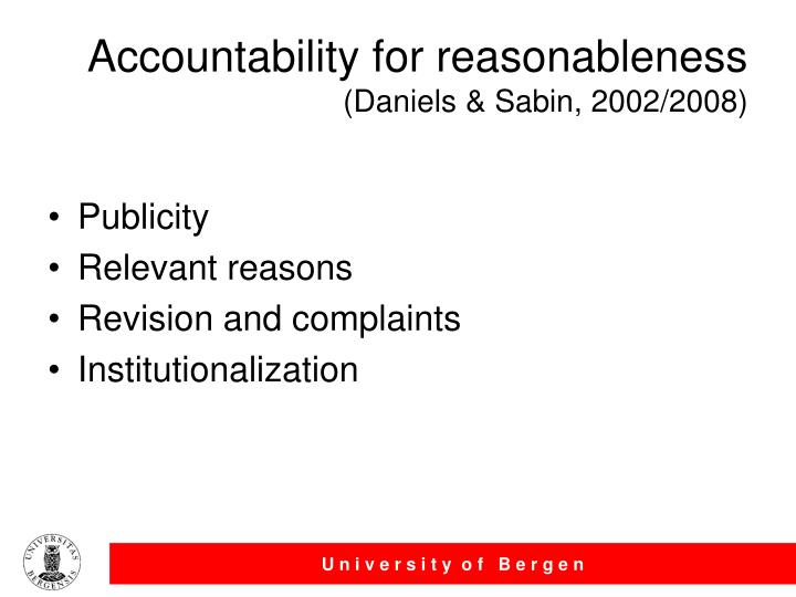 Accountability for reasonableness