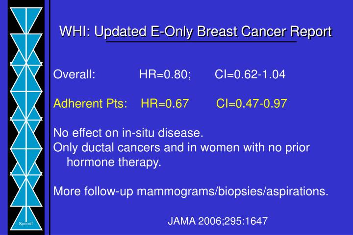 WHI: Updated E-Only Breast Cancer Report