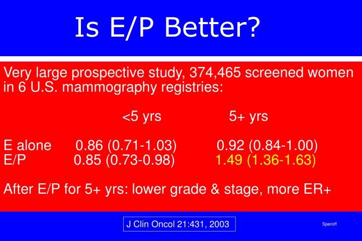 Is E/P Better?