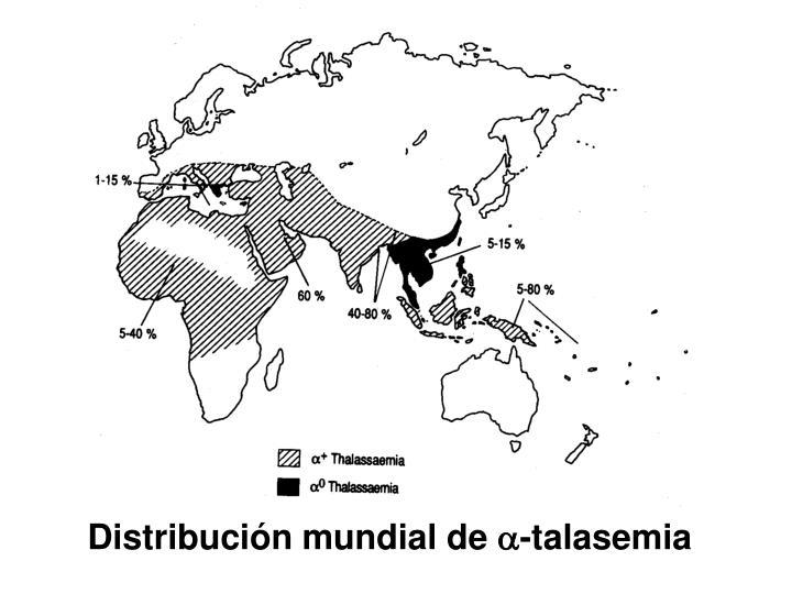 Distribución mundial de