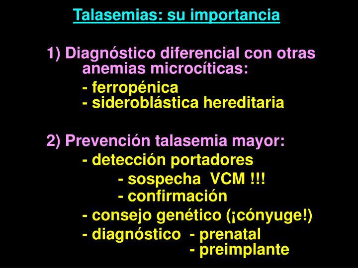 Talasemias: su importancia