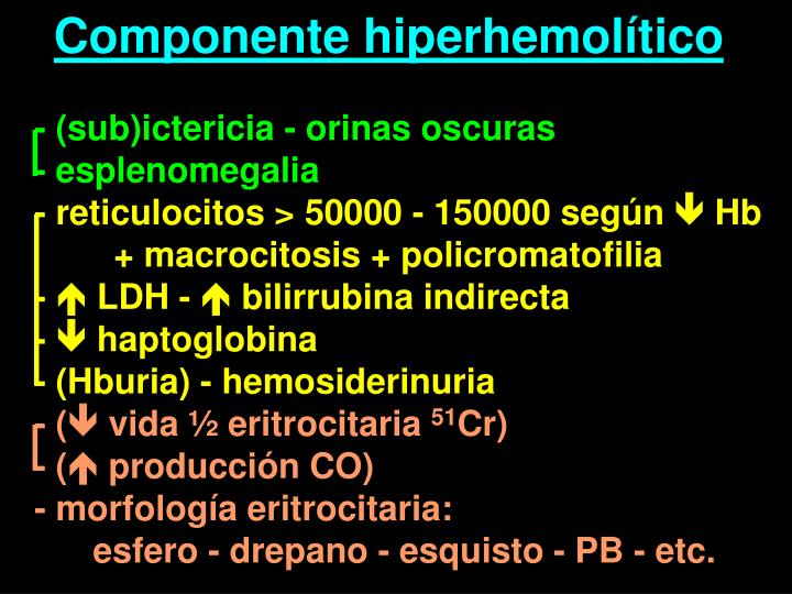 Componente hiperhemolítico