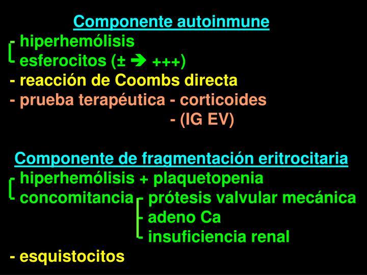 Componente autoinmune