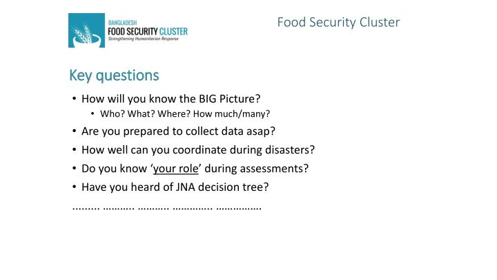 Food Security Cluster