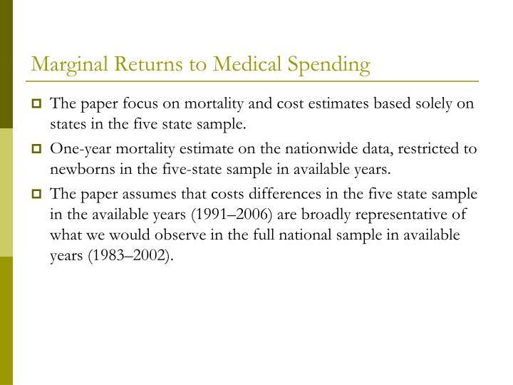 Marginal Returns to Medical Spending