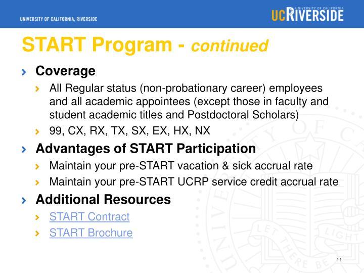 START Program -