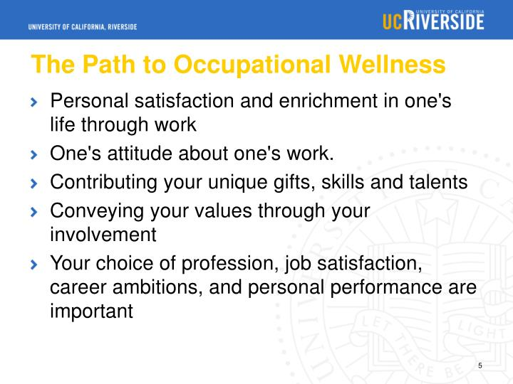 The Path to Occupational Wellness