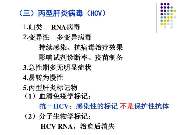 (三)丙型肝炎病毒(
