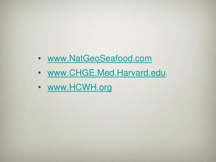 www.NatGeoSeafood.com