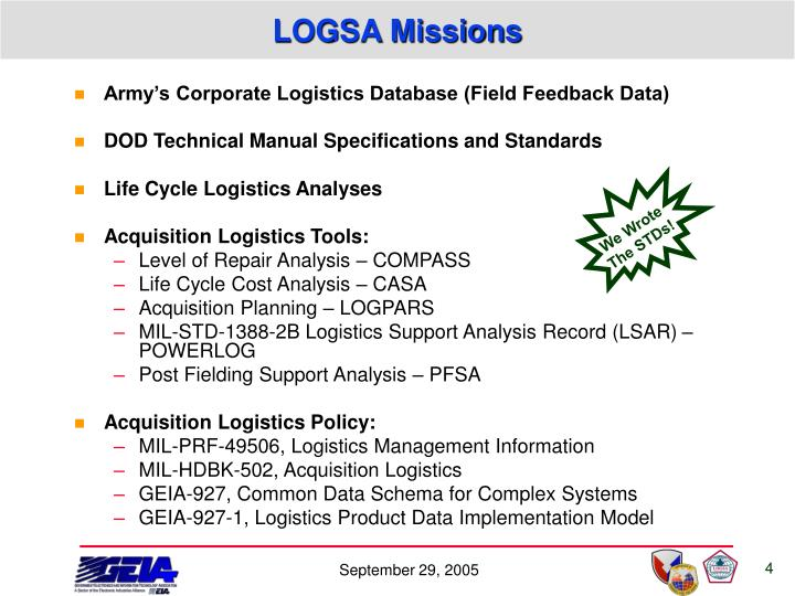 LOGSA Missions