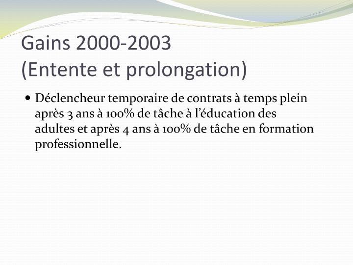 Gains 2000-2003