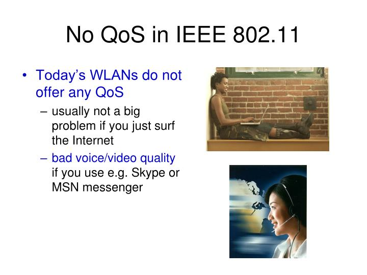 No qos in ieee 802 11