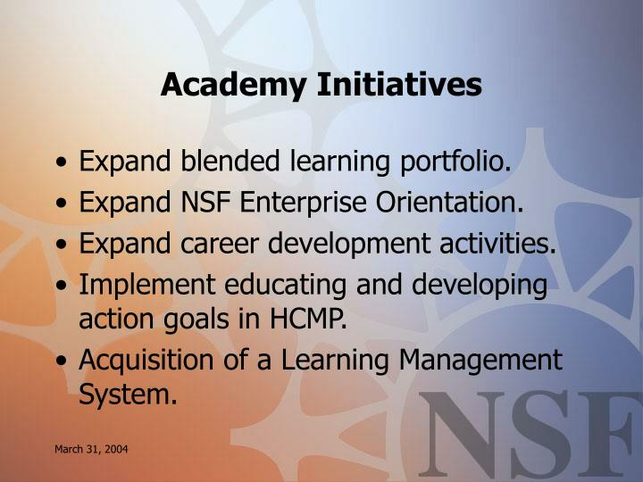Academy Initiatives