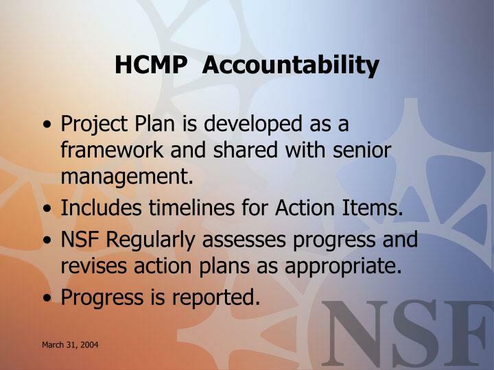 HCMP  Accountability