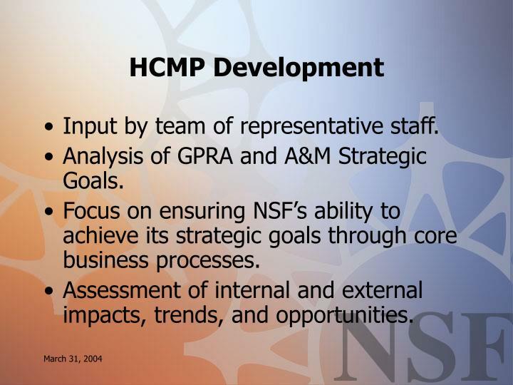 HCMP Development